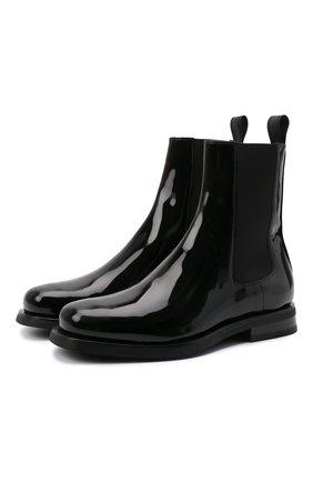Женские кожаные ботинки SANTONI черного цвета, арт. WTGA59617G0MNVHDN01 | Фото 1
