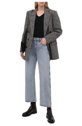 Женские кожаные ботинки SANTONI черного цвета, арт. WTGA59617G0MNVHDN01 | Фото 2