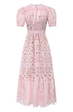 Женское платье SELF-PORTRAIT розового цвета, арт. PF21-043 | Фото 1