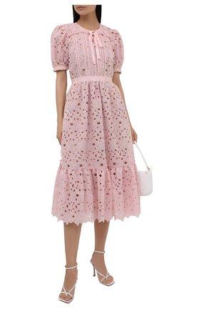 Женское платье SELF-PORTRAIT розового цвета, арт. PF21-043 | Фото 2