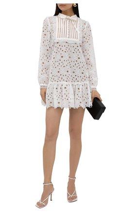 Женское платье SELF-PORTRAIT белого цвета, арт. PF21-104 | Фото 2