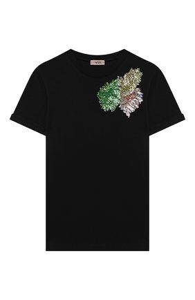 Детская хлопковая футболка N21 черного цвета, арт. N21121/N0080/N21T88F | Фото 1
