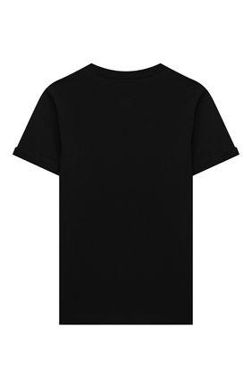 Детская хлопковая футболка N21 черного цвета, арт. N21121/N0080/N21T88F | Фото 2