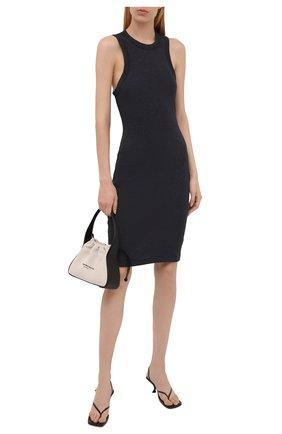Женское хлопковое платье JAMES PERSE темно-серого цвета, арт. WRTJ6617 | Фото 2
