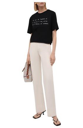 Женская хлопковая футболка LOEWE черного цвета, арт. S359333XCI | Фото 2 (Материал внешний: Хлопок; Рукава: Короткие; Длина (для топов): Стандартные; Стили: Спорт-шик; Принт: С принтом; Женское Кросс-КТ: Футболка-одежда)