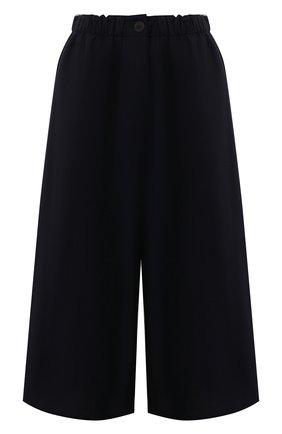 Женский хлопковые кюлоты LOEWE темно-синего цвета, арт. S359331XE2 | Фото 1 (Материал внешний: Хлопок; Силуэт Ж (брюки и джинсы): Расклешенные; Стили: Гламурный; Женское Кросс-КТ: Кюлоты-брюки; Длина (брюки, джинсы): Укороченные)