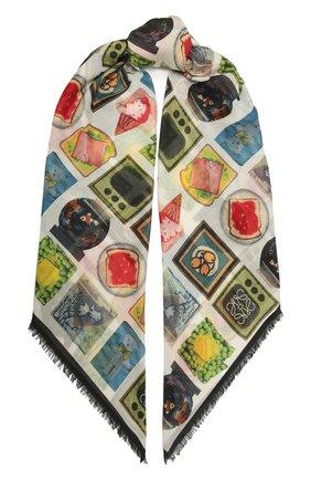 Женский платок LOEWE разноцветного цвета, арт. F811487X12 | Фото 1