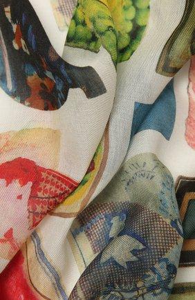 Женский платок LOEWE разноцветного цвета, арт. F811487X12 | Фото 2