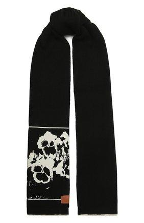Женский хлопковый шарф LOEWE черного цвета, арт. F811250X04 | Фото 1