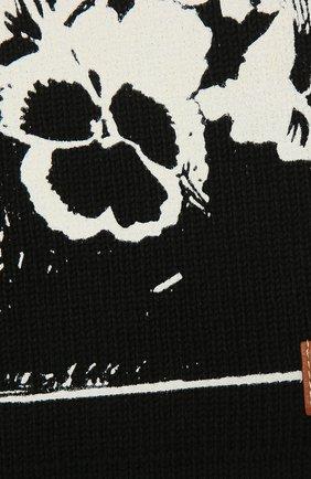 Женский хлопковый шарф LOEWE черного цвета, арт. F811250X04 | Фото 2