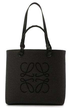 Женский сумка-тоут anagram LOEWE черного цвета, арт. A717T23X02 | Фото 1