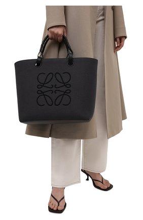 Женский сумка-тоут anagram LOEWE черного цвета, арт. A717T23X02 | Фото 2