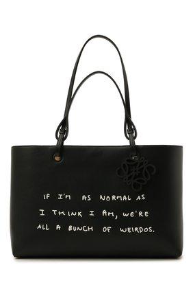 Женский сумка-тоут east west LOEWE черного цвета, арт. A717P29X04 | Фото 1
