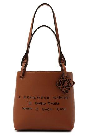 Женский сумка-тоут square LOEWE светло-коричневого цвета, арт. A711T81X02 | Фото 1