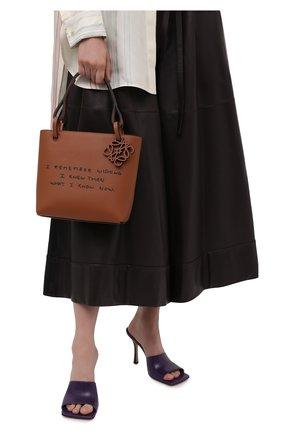 Женский сумка-тоут square LOEWE светло-коричневого цвета, арт. A711T81X02 | Фото 2