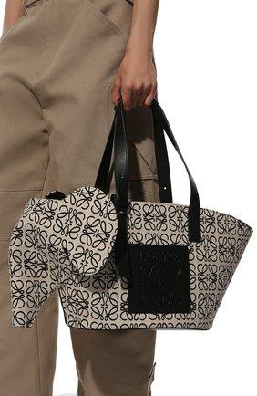 Женская сумка elephant LOEWE черно-белого цвета, арт. A546T21X05 | Фото 2