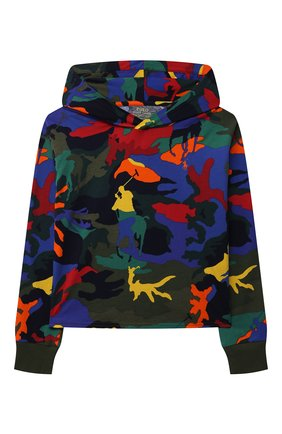 Детский хлопковое худи POLO RALPH LAUREN разноцветного цвета, арт. 313844925 | Фото 1