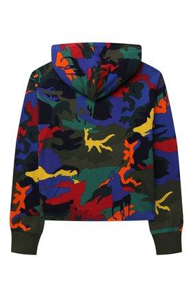 Детский хлопковое худи POLO RALPH LAUREN разноцветного цвета, арт. 313844925 | Фото 2