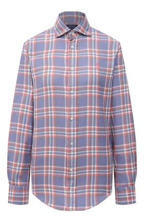 Женская хлопковая рубашка POLO RALPH LAUREN сиреневого цвета, арт. 211843389   Фото 1