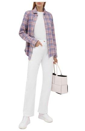 Женская хлопковая рубашка POLO RALPH LAUREN сиреневого цвета, арт. 211843389   Фото 2