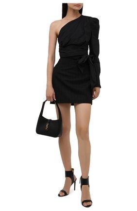 Женские кожаные босоножки stirrup kerstin RALPH LAUREN черного цвета, арт. 800850289 | Фото 2 (Подошва: Плоская; Материал внутренний: Натуральная кожа; Каблук тип: Шпилька; Каблук высота: Высокий)