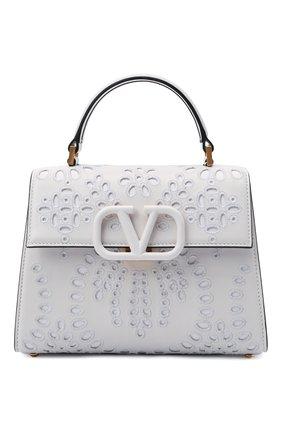 Женская сумка vsling small VALENTINO белого цвета, арт. WW2B0F53/NEY | Фото 1 (Материал: Натуральная кожа; Ремень/цепочка: На ремешке; Размер: small; Сумки-технические: Сумки top-handle)