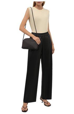 Женские кожаные брюки DROME черного цвета, арт. DPD7048P/D400P   Фото 2
