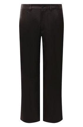 Женские кожаные брюки DROME коричневого цвета, арт. DPD1989P/D400P   Фото 1