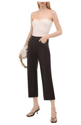 Женские кожаные брюки DROME коричневого цвета, арт. DPD1989P/D400P   Фото 2