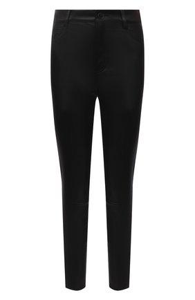 Женские кожаные брюки DROME черного цвета, арт. DPD1590VP/D1835P   Фото 1