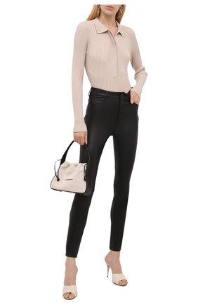 Женские кожаные брюки DROME черного цвета, арт. DPD1590VP/D1835P   Фото 2
