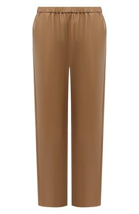 Женские кожаные брюки DROME бежевого цвета, арт. DPD1384P/D400P   Фото 1