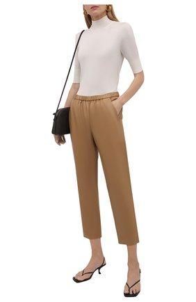 Женские кожаные брюки DROME бежевого цвета, арт. DPD1384P/D400P   Фото 2