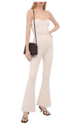 Женские брюки HELMUT LANG кремвого цвета, арт. L04HW710 | Фото 2