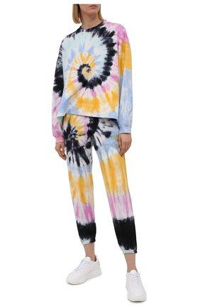 Женский хлопковый свитшот ELECTRIC&ROSE разноцветного цвета, арт. LFCV06-VIBE | Фото 2 (Рукава: Длинные; Длина (для топов): Стандартные; Материал внешний: Хлопок; Стили: Спорт-шик; Женское Кросс-КТ: Свитшот-одежда)