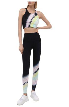 Женские леггинсы ELECTRIC&ROSE разноцветного цвета, арт. AWLG11-BEAM | Фото 2 (Материал внешний: Хлопок; Стили: Спорт-шик; Женское Кросс-КТ: Леггинсы-спорт; Длина (брюки, джинсы): Стандартные)