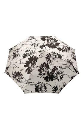 Женский складной зонт PASOTTI OMBRELLI черно-белого цвета, арт. 257/RAS0 56799/1/A29 | Фото 1