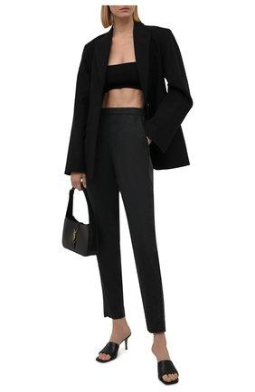 Женские шерстяные брюки EMPORIO ARMANI серого цвета, арт. BNP13T/B8801   Фото 2