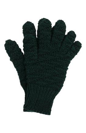 Женские шерстяные перчатки BOTTEGA VENETA темно-зеленого цвета, арт. 670159/V10K0 | Фото 1 (Материал: Шерсть)