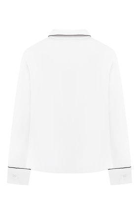 Детское хлопковая блузка DAL LAGO белого цвета, арт. R496/7628/13-16   Фото 2