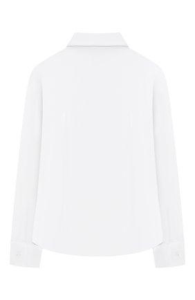 Детское хлопковая блузка DAL LAGO белого цвета, арт. R402/7537/7-12   Фото 2