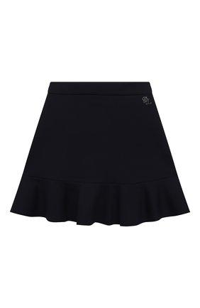 Детская юбка DAL LAGO темно-синего цвета, арт. R306A/8111/4-6 | Фото 1