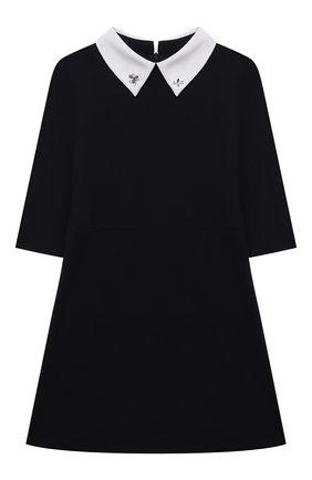 Детское платье DAL LAGO темно-синего цвета, арт. R256/8111/7-12   Фото 1