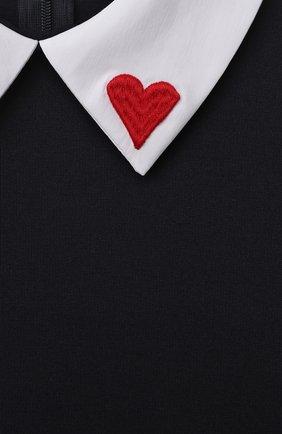 Детское платье DAL LAGO темно-синего цвета, арт. R253/8111/13-16   Фото 3 (Рукава: Длинные; Случай: Повседневный; Материал внешний: Вискоза; Девочки Кросс-КТ: Платье-одежда; Ростовка одежда: 13 - 15 лет   158 см, 16 лет   164 см)
