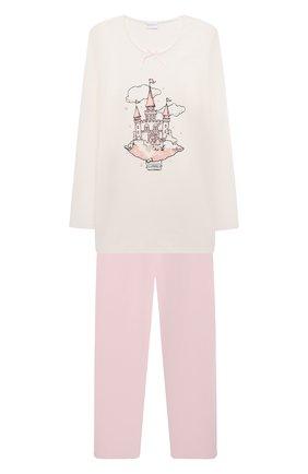 Детская хлопковая пижама LA PERLA разноцветного цвета, арт. 55371   Фото 1