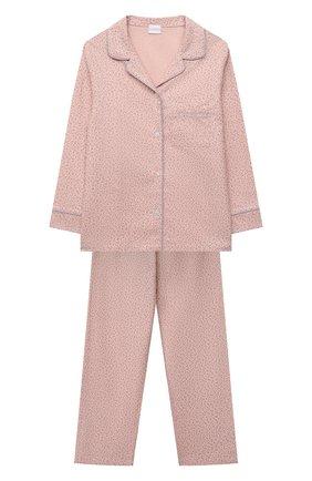 Детская хлопковая пижама LA PERLA розового цвета, арт. 55391/8A-14A   Фото 1