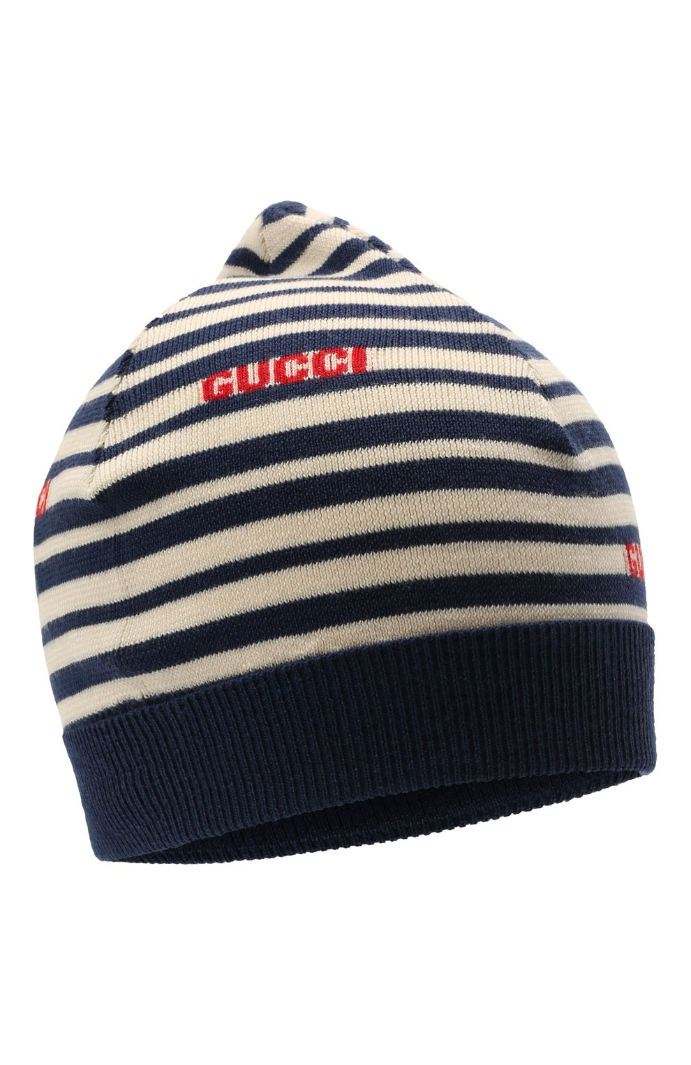 Детского шерстяная шапка GUCCI синего цвета, арт. 660617/4K206   Фото 1 (Материал: Шерсть)