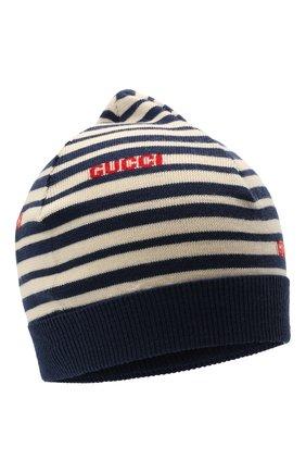 Детского шерстяная шапка GUCCI синего цвета, арт. 660617/4K206 | Фото 1