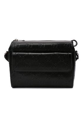 Мужская кожаная сумка gg GUCCI черного цвета, арт. 658565/1W3CN | Фото 1