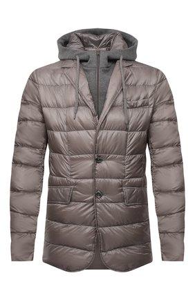 Мужская пуховая куртка HERNO светло-коричневого цвета, арт. PI077UR/12020 | Фото 1